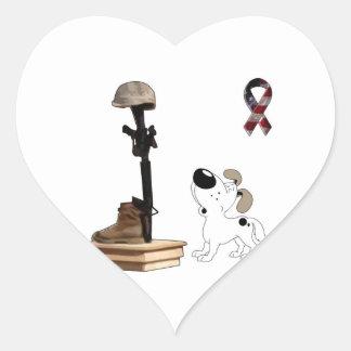 Fallen Soldier - Cutie Mourns Heart Sticker