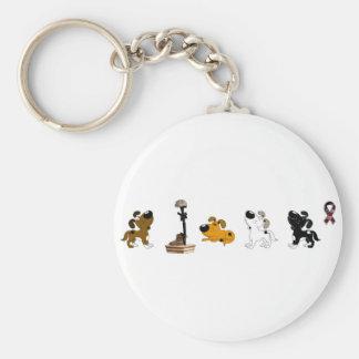 Fallen Soldier (Pumpkin and pups mourn) Basic Round Button Keychain