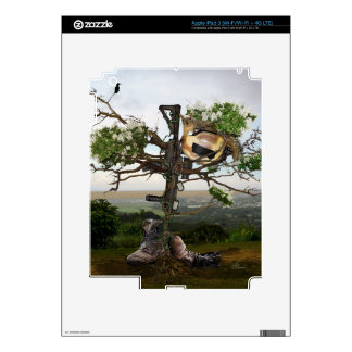 Fallen Soldier's Cross Decal For iPad 3