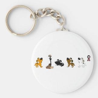 Fallen Soldier (Shadow and pups mourn) Basic Round Button Keychain