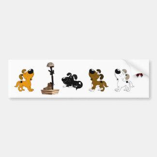 Fallen Soldier (Shadow and pups mourn) Car Bumper Sticker