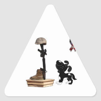 Fallen Soldier - Shadow Mourns Triangle Sticker