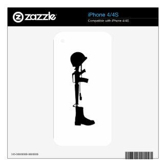 Fallen Soldier Skin For iPhone 4