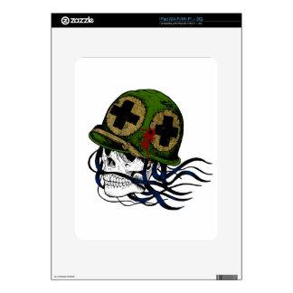 Fallen Soldier Skull Decal For iPad