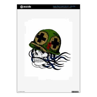 Fallen Soldier Skull iPad 3 Decal