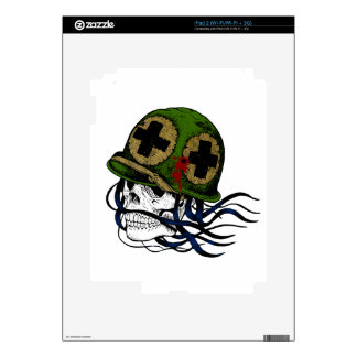Fallen Soldier Skull Skins For The iPad 2
