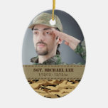 Fallen Soldier with Desert Camo Christmas Ornament