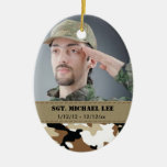 Fallen Soldier with Desert Camo Christmas Tree Ornaments