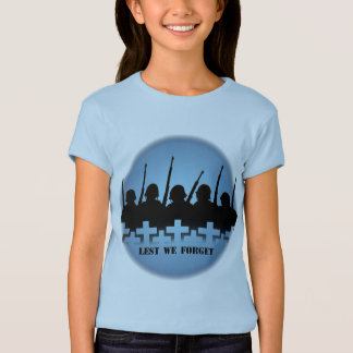 Fallen Soldiers Girl's T-shirts Lest We Forget Tee