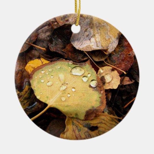Fallen Splendor Ceramic Ornament