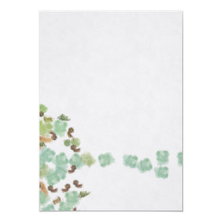 Fallen tree abstract card