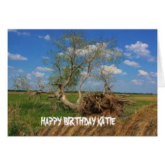 Fallen Tree Birthday Card