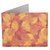 Fallen wet leaves. Autumnal background Billfold Wallet