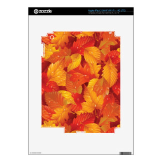 Fallen wet leaves. Autumnal background iPad 3 Decal