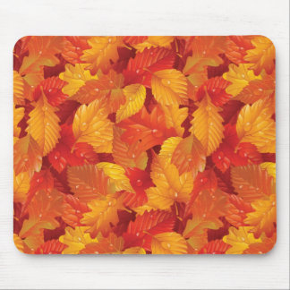 Fallen wet leaves. Autumnal background Mouse Pad