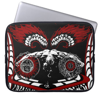 Fallen winged angel Neoprene Laptop Sleeve