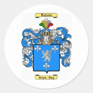 Falletta (int) classic round sticker