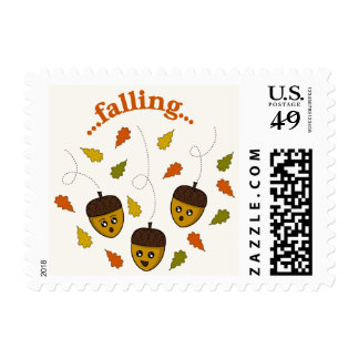 Falling Acorns Stamp