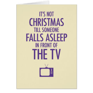 Falling Asleep in Front of the TV Christmas Card