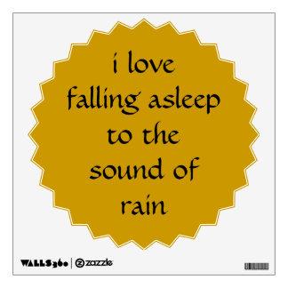 Falling Asleep to Rain Star Burst Wall Decal