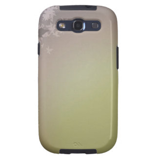 FALLING AUTUMN LEAVES DREAMY GREENS PURPLES GALAXY SIII CASES