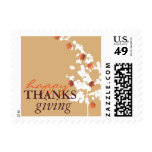 Falling Autumn Maple Leaves Thanksgiving Stamps