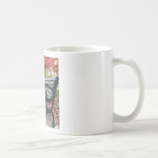 Falling Benches and Sitting Leaves Coffee Mug