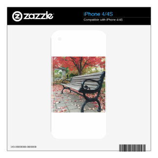 Falling Benches and Sitting Leaves Skin For The iPhone 4