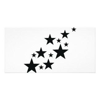 falling black stars icon photo card