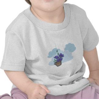 Falling Bowl of Petunias T Shirts