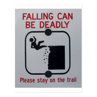 Falling Can Be Deadly Postcards