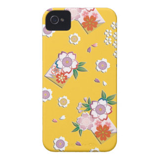 Falling cherry blossoms iPhone 4 cases