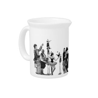 Falling Circus Beverage Pitcher