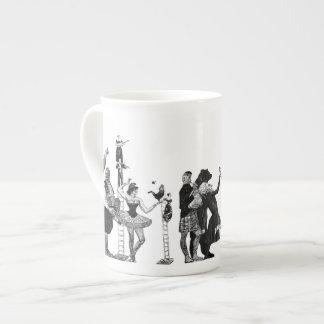 Falling Circus Tea Cup
