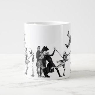 Falling Circus 20 Oz Large Ceramic Coffee Mug