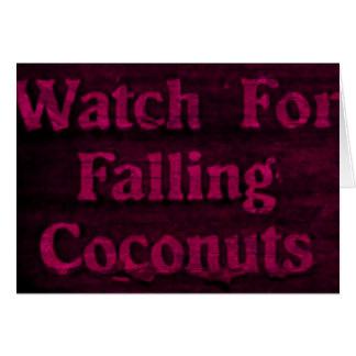 Falling Coconuts Greeting Card