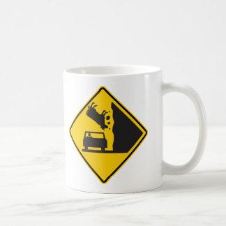 Falling Cow Zone Highway Sign Coffee Mug