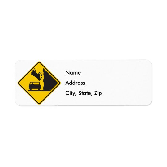 Falling Cow Zone Highway Sign Label