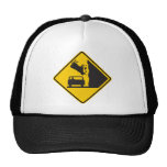 Falling Cow Zone Highway Sign Mesh Hats