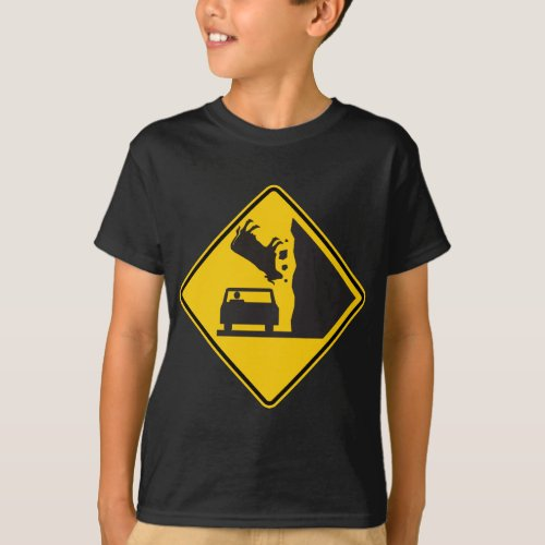 Falling Cow Zone Highway Sign T_Shirt