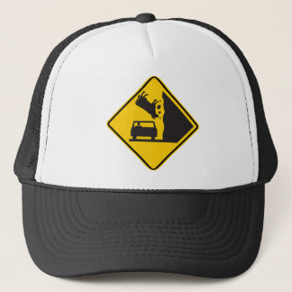 Falling Cow Zone Highway Sign Trucker Hat