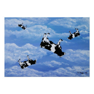Falling Cows Plakate