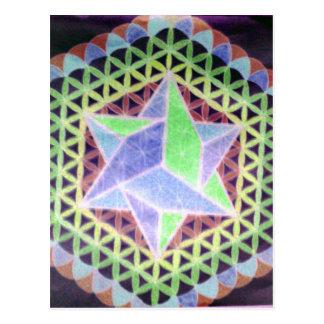 Falling Dark Star Design Postcard
