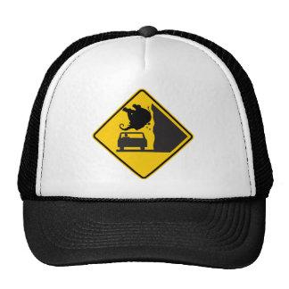 Falling Elephant Zone Highway Sign Trucker Hat