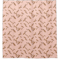 falling feathers shower curtain