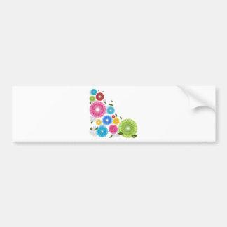 Falling Flowers Car Bumper Sticker