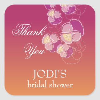 Falling Flowers Juicy Ombre Bridal Shower
