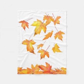 Falling Foliage Small Fleece Blanket