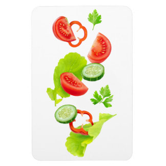Falling fresh vegetables magnet