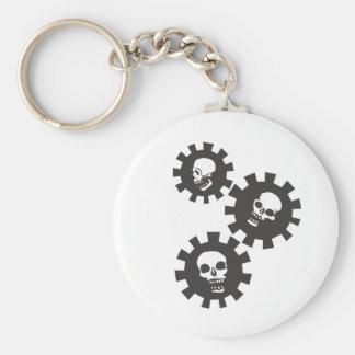 Falling Gear Skulls Keychain